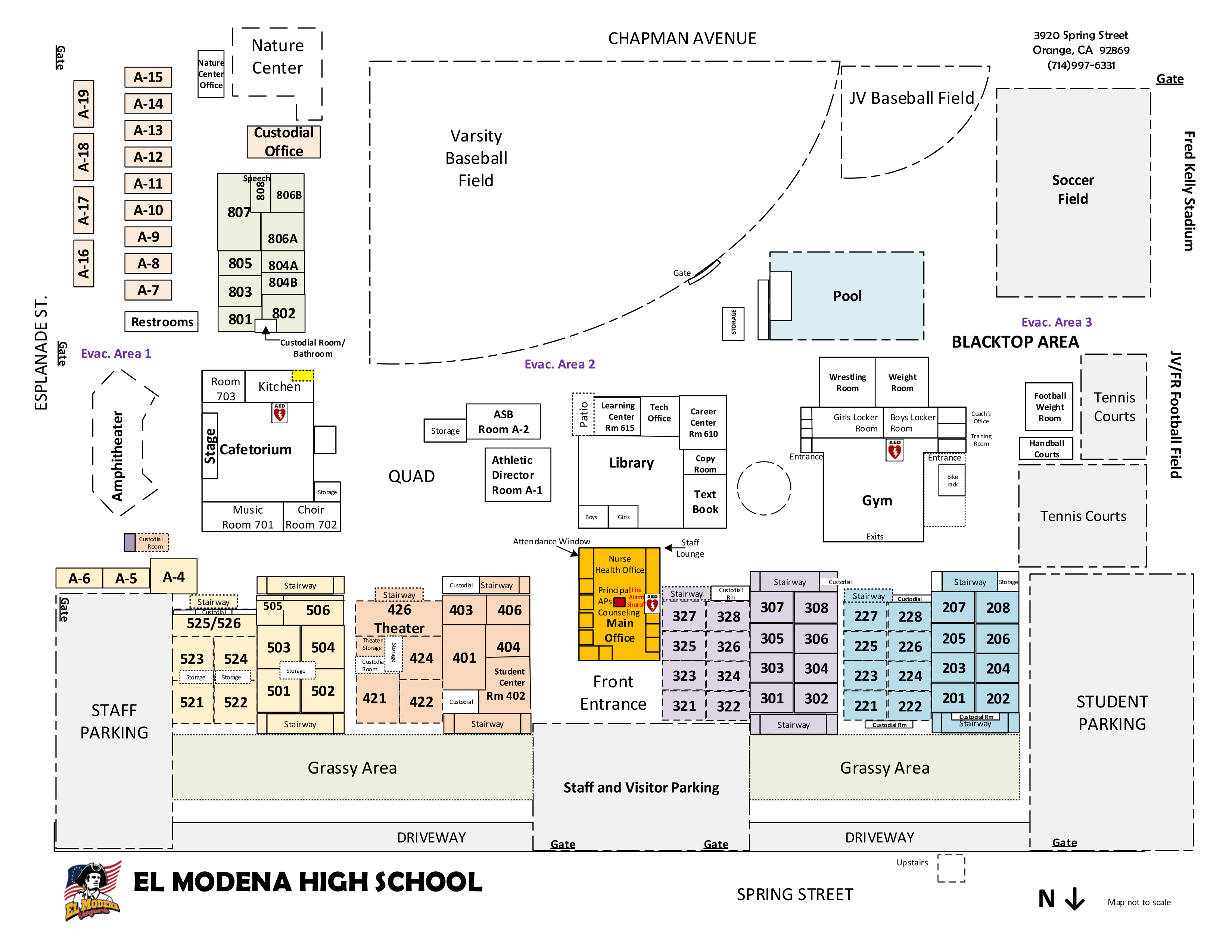 EMHS Campus Map
