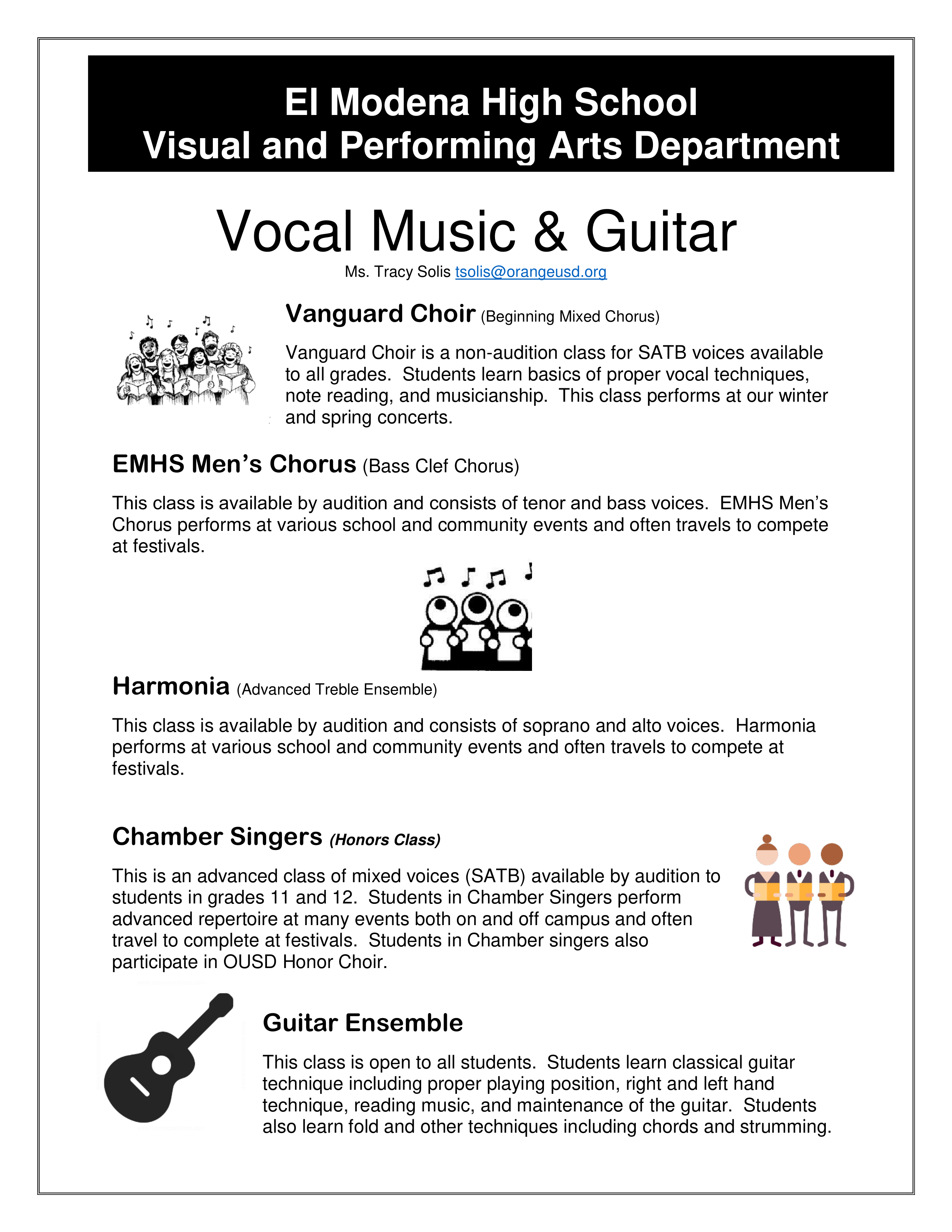Vocal Music and Guitar